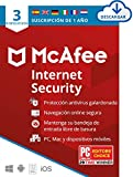 McAfee Internet Security 2021, 3 Dispositivos, 1 Año, Software Antivirus,...