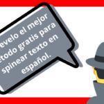 Como spinear texto en español