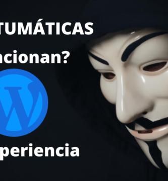 ¿Funcionan las webs automaticas?